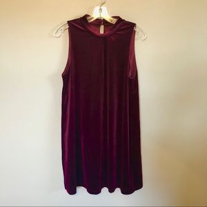 NWT {She and Sky} Maroon Velvet Dress! Size M